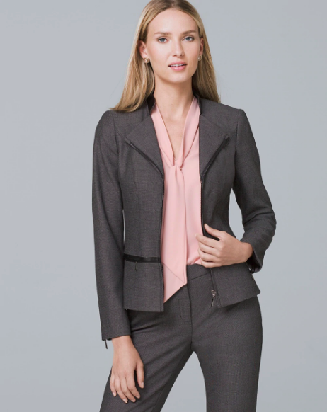 white house black market luxe suiting jacket