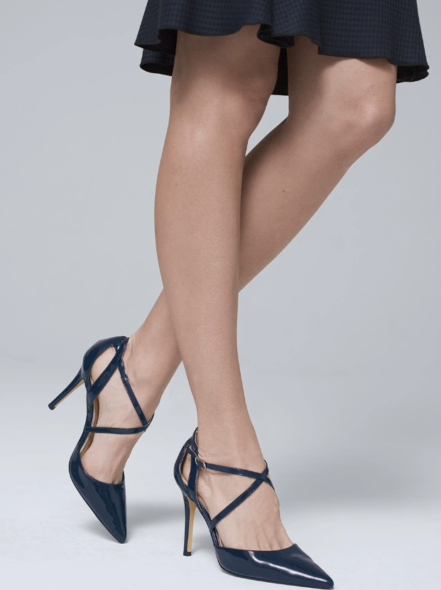 Patent Leather Strappy Pumps