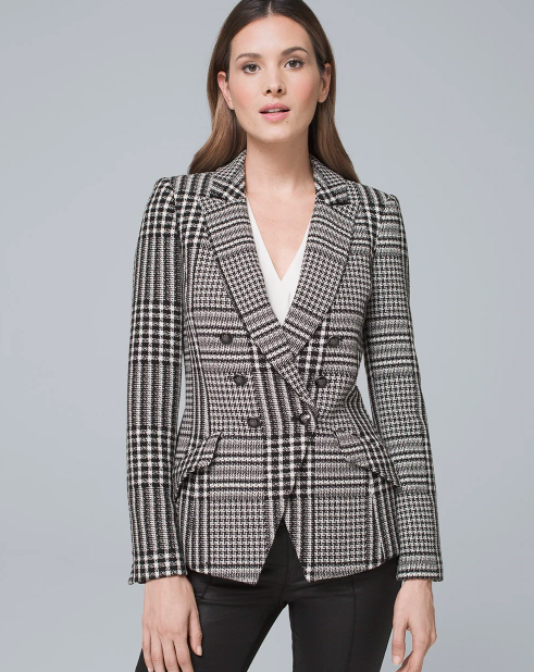 PLAID TROPHY JACKET