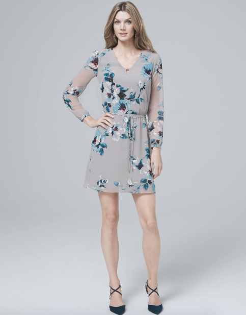 gray floral dresses are fab