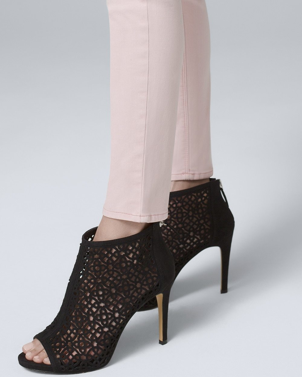 Laser-Cut Peep-Toe Booties