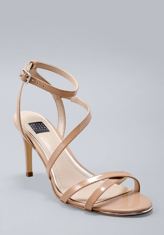 Patent strappy heels