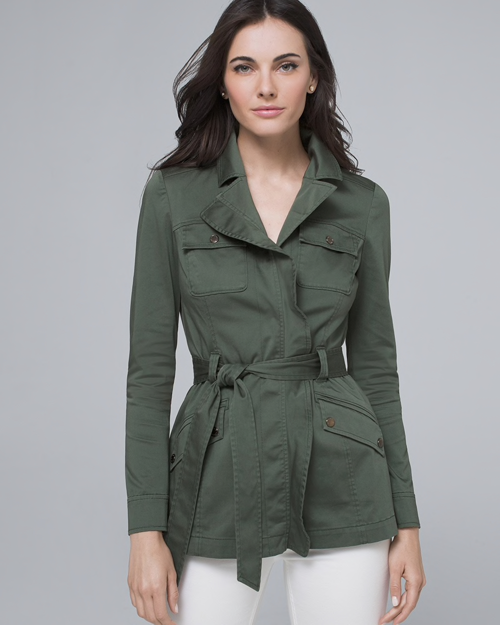 Capsule Wardrobe Jackets Safari Jacket With Removeable Belt