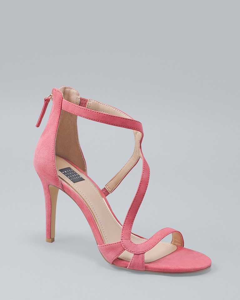 Pink Suede Strappy Heel