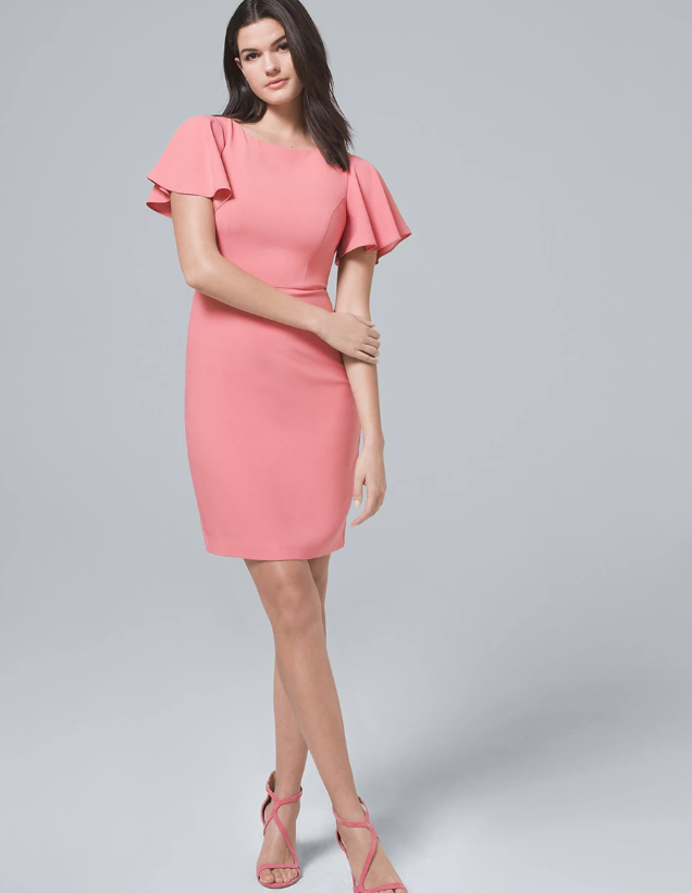 Flutter-Sleeve Sheath Dress