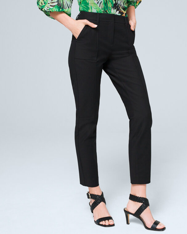 cropped leg pants are perfect for work in the summer