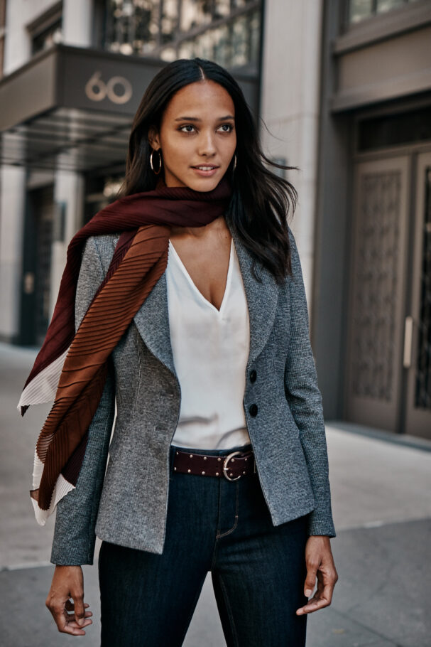 a blazer is the classic completer piece